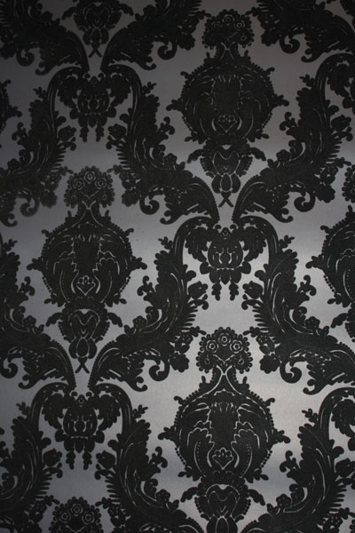 Hewingheyi Green Velvet Flocked Wallpaper